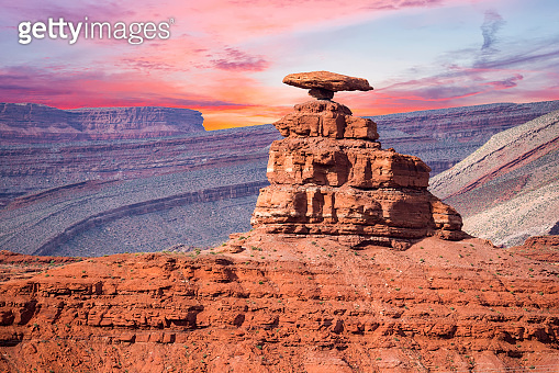 Mexican hat at sunset time