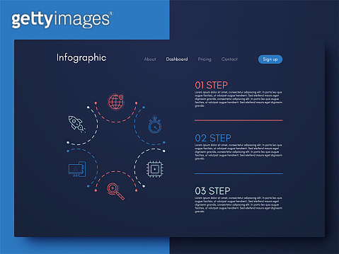 Vector graphic infographics. Template for creating mobile applications, workflow layout, diagram, banner, web design, business infographic reports