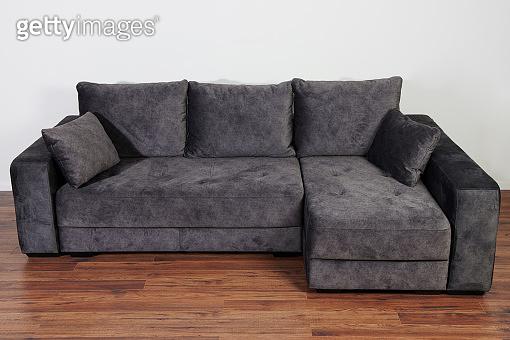 Dark grey cozy sofa