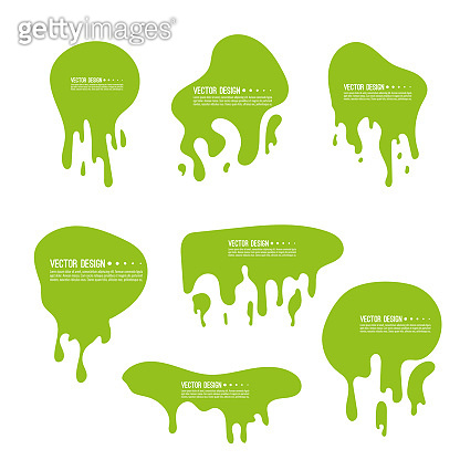 Vector goo dripping splodges