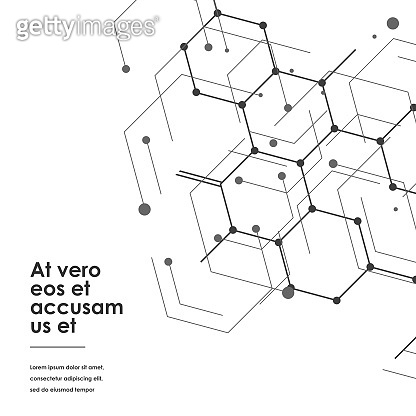 Science design with molecular structure. Abstract vector medical background