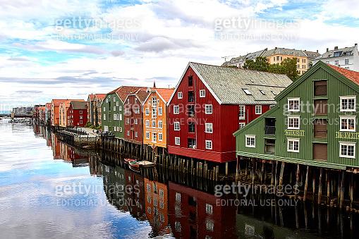 Bakklandet in Trondheim, Norway