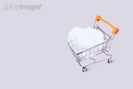 Banner with shopping cart.