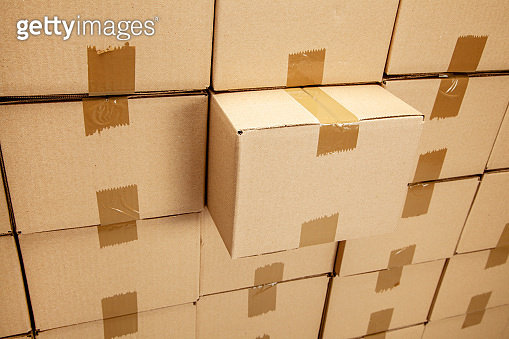 Cardboard boxes for delivery or moving