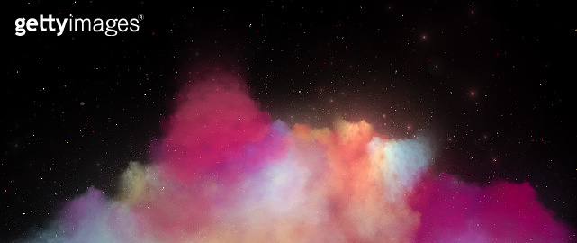 Colorful nebula in deep space ultra widescreen template