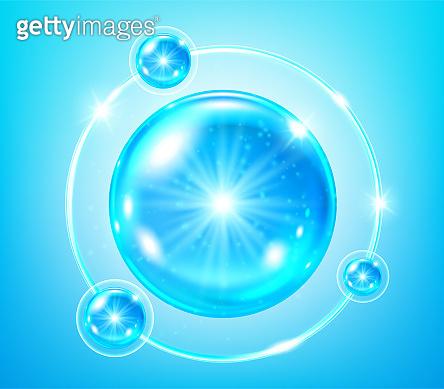 Blue collagen solution. Vector illustration