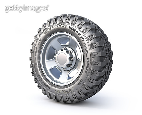 auto wheel isolated on white background