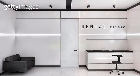 dental clinic interior 3d illustration