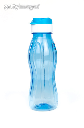 Blue Water Bottle isolated on white background