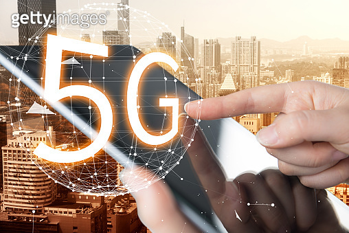5G mobile phone network concept