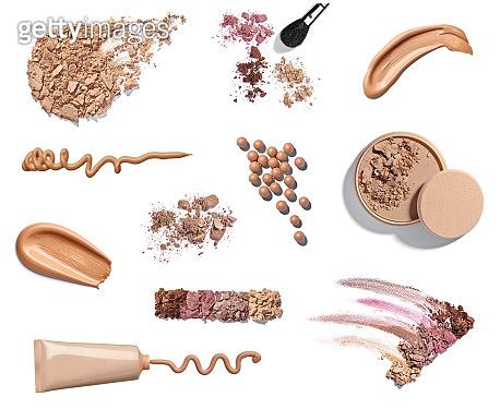 powder liquid make up beauty