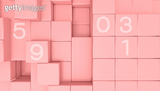 Business ideas Concept leaders Creative Cubic Geometric shape minimal retro and red background - 3d rendering
