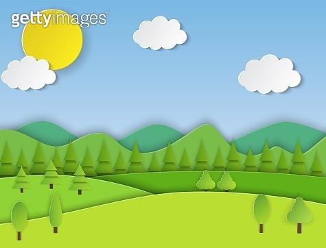 Paper field landscape.