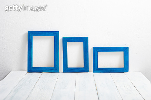 Blue picture frames