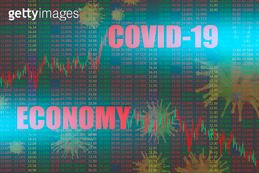 Economic crisis in the world. The COVID-19 curve is growing, the economy is falling. Impact of the pandemic on financial indicators