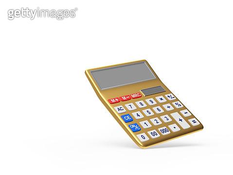 Golden electronic calculator