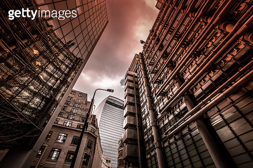 Modern Abstract Architecture in City of London