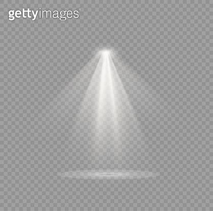 Spotlight light effect.