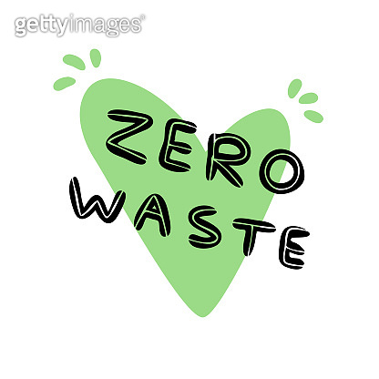Symbol of waste-free production. No garbage. Eco-friendly attitude to yourself and the world around the label