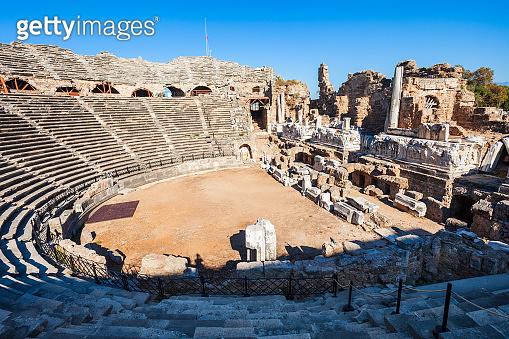 Theatre, Side ancient city, Turkey
