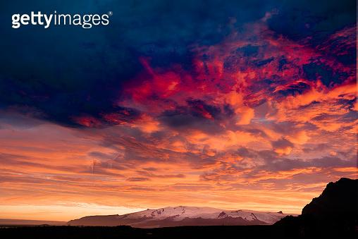 Sunset at Jökulsaron/Vatnajökull