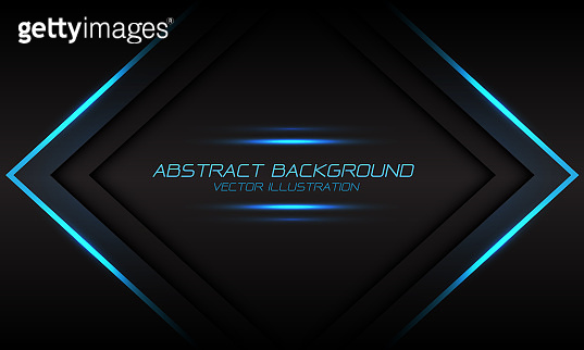 Abstract blue light flame arrow banner on dark grey design modern luxury futuristic background vector illustration.