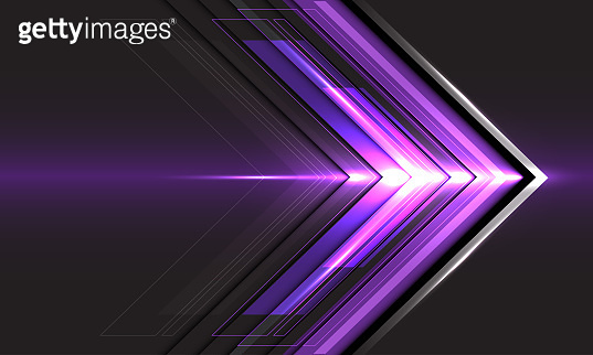 Abstract violet arrow light direction speed on black technology futuristic design modern background vector illustration.
