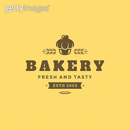 Bakery badge or label retro vector illustration