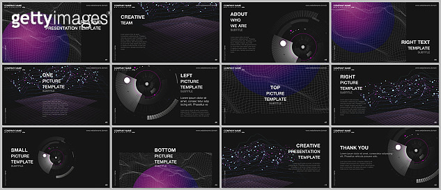 Presentation design vector templates, multipurpose template for presentation slide, flyer, brochure cover design, infographic report. Future technology. Infographic digital cloud technology concept.