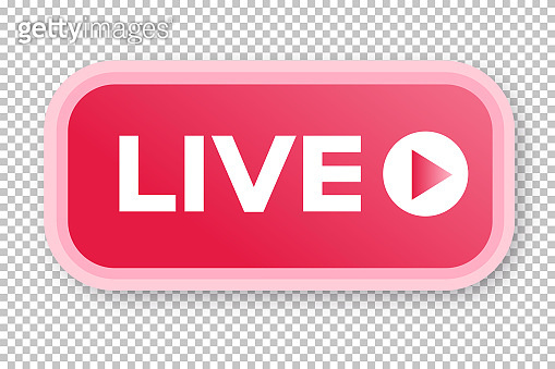 Live streaming icon 3d modern style