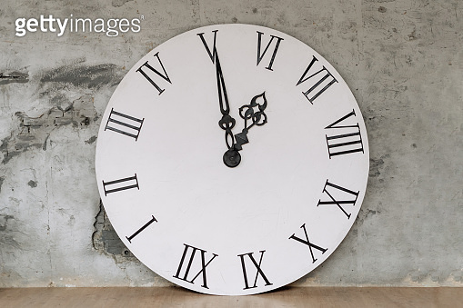 Round Ornamental Big Clock with Roman Numbers