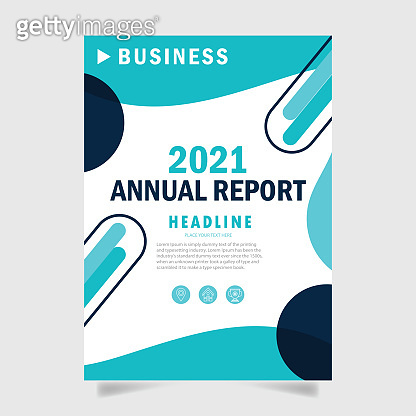 Business annual report cover page template