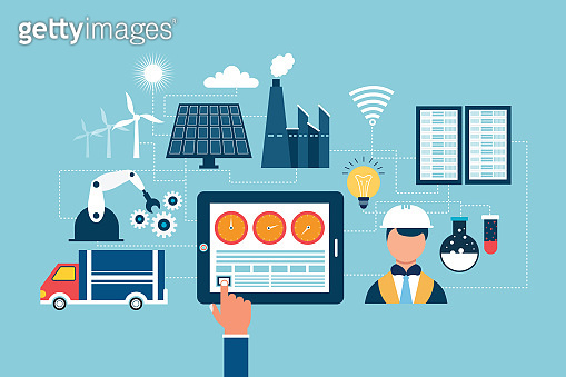 Smart industry concept Internet of things