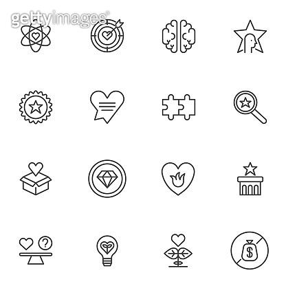 Social Responsibility line icons set