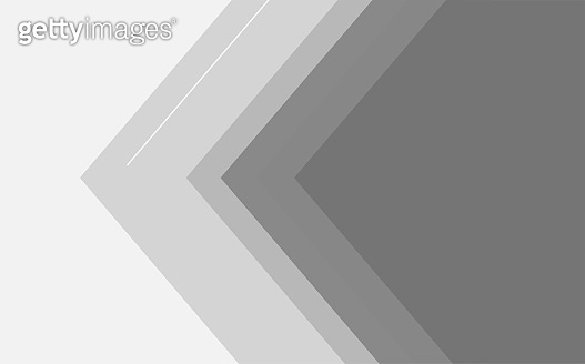 Gray tone color and white color arrowed background, abstract art, illustration