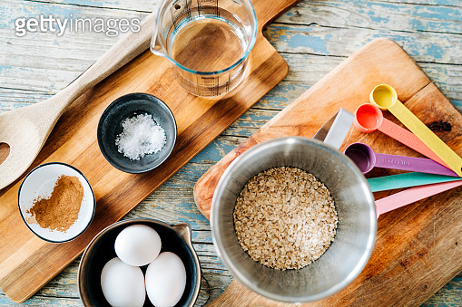 Ingredients for baking at home