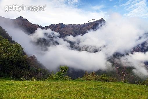 view from Choquequirao trekking trail