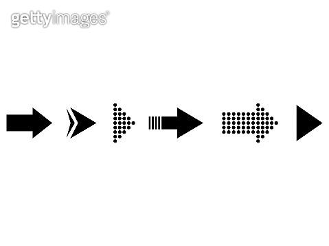 Set of black vector arrows. Collection arrow icon. Arrow vector icon.