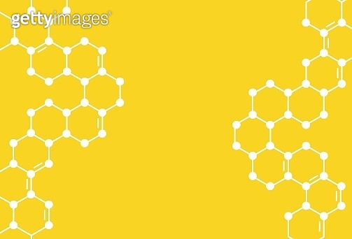 Yellow Honeycomb Background. Vector Illustration of Geometric Hexagons.