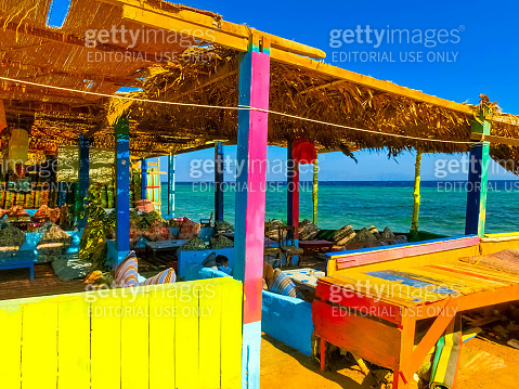The lounge and relax area on red sea in sharm el sheikh