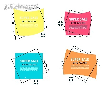 Promotion stickers and banners. Vector discount label with sale offer price.