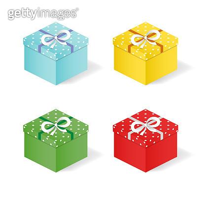 Festive gift boxes.