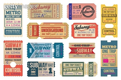 Subway, underground and metro tickets