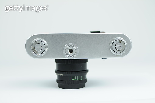 Retro rangefinder 35mm analog film camera
