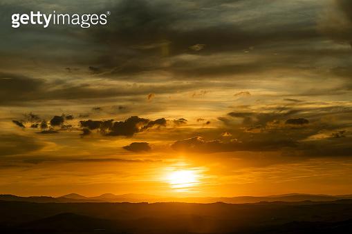 Dusk,Sunset Sky in the Evening,Dramatic and Wonderful Cloud on Twilight,Majestic Dark Blue
