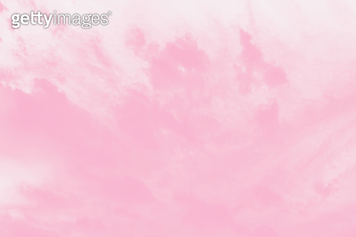 Pale watercolor gradient pink sky background, soft delicate clouds