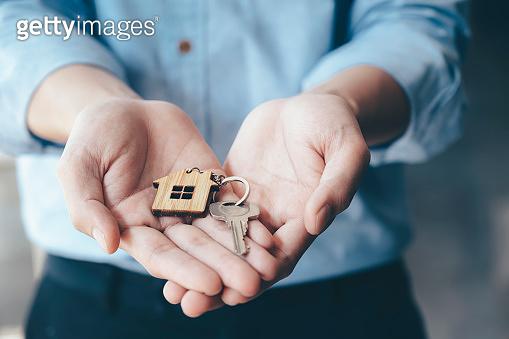 Giving, offering, demonstration, holding house keys.
