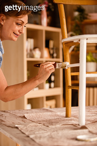 Using isolation time to bring life to an old wooden chair