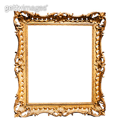 vertical baroque wooden picture frame
