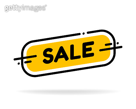 Label template sale shop now. Vector flat illustrations. Big sale special offer.